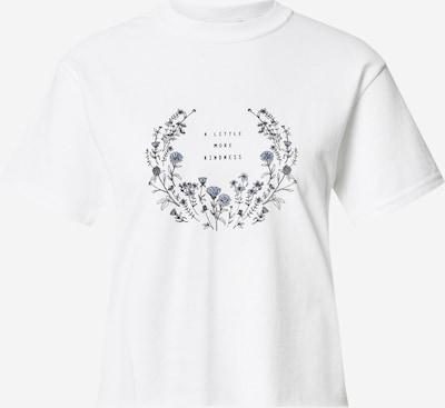 Miss Selfridge T-Shirt in rauchblau / jade / schwarz / weiß, Produktansicht