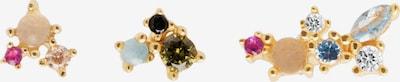 P D PAOLA Náušnice 'La Palette' - modrá / zlatá / ružová / čierna, Produkt