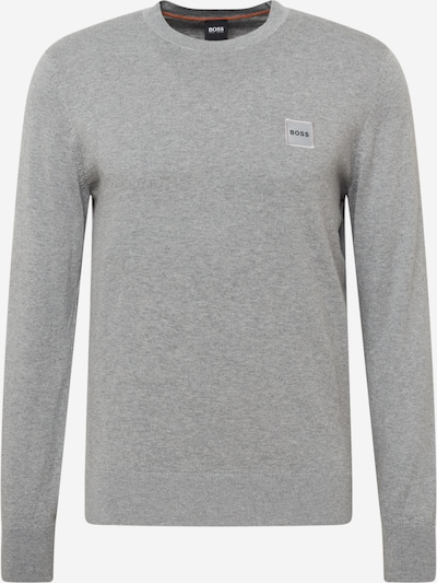 BOSS Casual Sweater 'Kanovant' in mottled grey, Item view