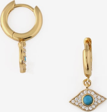 Orelia Earrings 'Evil Eye' in Gold