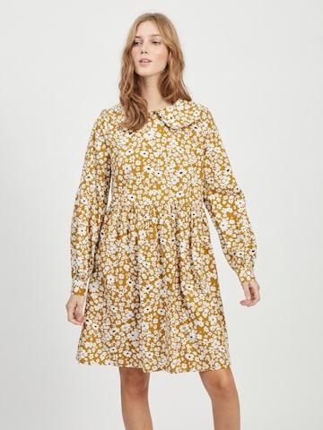 VILA Shirt Dress 'Balai' in Yellow