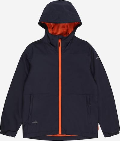 ICEPEAK Outdoorjas 'KNOBEL' in de kleur Donkerblauw / Sinaasappel: Vooraanzicht