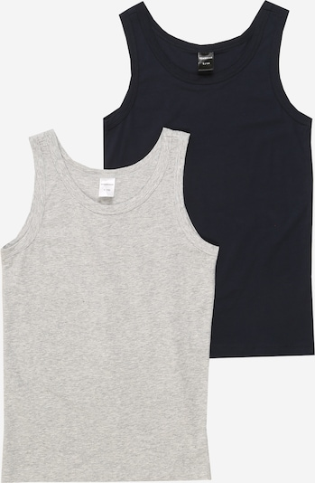 SCHIESSER Onderhemd 'Easy going' in de kleur Nachtblauw / Grijs gemêleerd, Productweergave