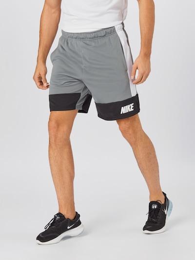 NIKE Sportsbukser i grå / sort / hvid, Modelvisning