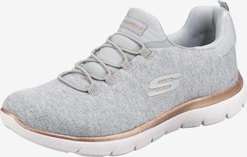 SKECHERS T-Bar Sandals in Grey