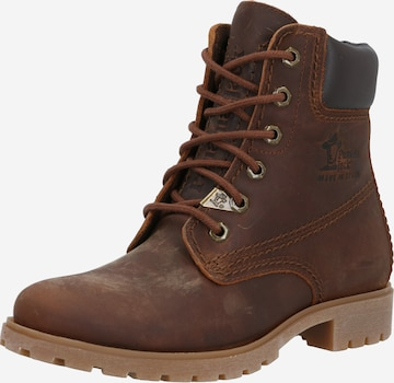 PANAMA JACK Lace-Up Ankle Boots 'Panama 3' in Brown