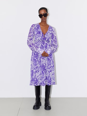 LeGer by Lena Gercke Košeľové šaty 'Jamira' - fialová