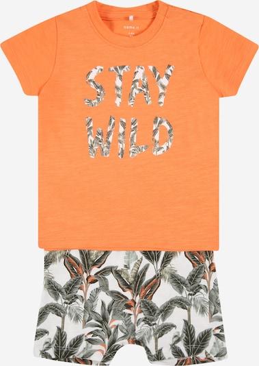 NAME IT Set 'JASON' in pastellgrün / orange / schwarz, Produktansicht
