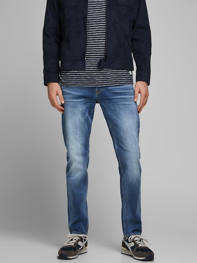 JACK & JONES Jeans 'JJIMIKE' i blue denim, Modelvisning
