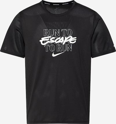 Tricou funcțional 'Miler' NIKE pe negru / alb, Vizualizare produs