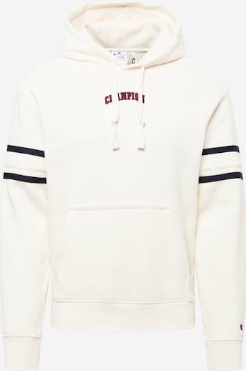 Champion Authentic Athletic Apparel Sweatshirt in marine / dunkelrot / offwhite, Produktansicht