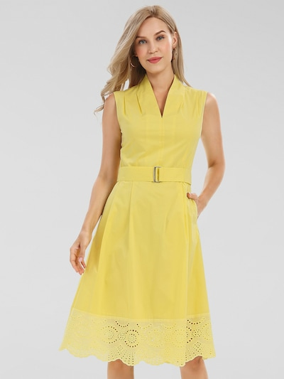 APART Summer Dress in Yellow, View model