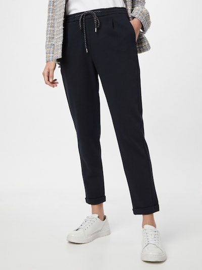 OPUS Pantalon à pince 'Menika' en bleu marine, Vue avec modèle