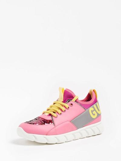 GUESS Sneaker in gelb / fuchsia, Produktansicht