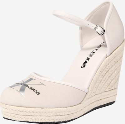 Calvin Klein Sandale in beige / schwarz / silber / weiß, Produktansicht