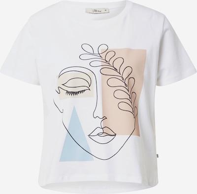 LTB T-Shirt 'JAPERA' in beige / rauchblau / hellbraun / schwarz / weiß, Produktansicht