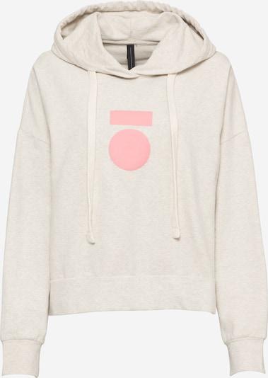10Days Sweat-shirt 'Medale' en beige chiné / rose clair, Vue avec produit