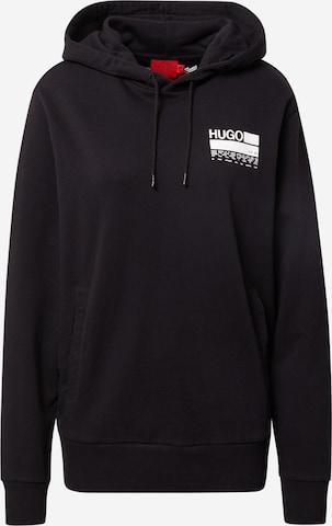 HUGO Sweatshirt 'Dasweater' in Black
