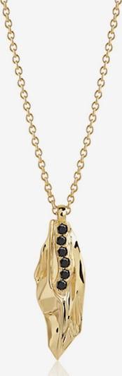 Sif Jakobs Kette mit Zirkonia in gold / schwarz, Produktansicht