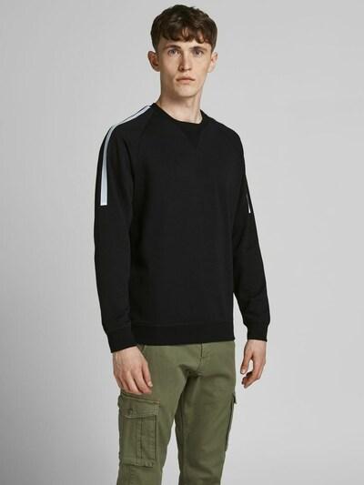 JACK & JONES Sweatshirt in de kleur Zwart / Wit: Vooraanzicht