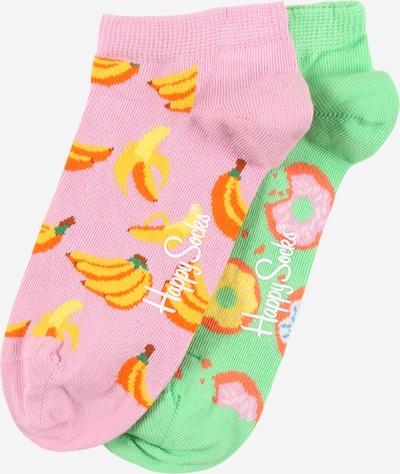Șosete 'Snack' Happy Socks pe galben / verde deschis / portocaliu / corai / roz pal, Vizualizare produs