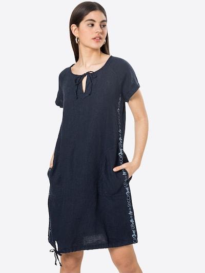 Rochie tip bluză Soccx pe navy / albastru deschis, Vizualizare model