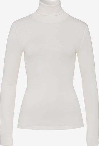 T-shirt ' Woolen Silk ' Hanro en blanc