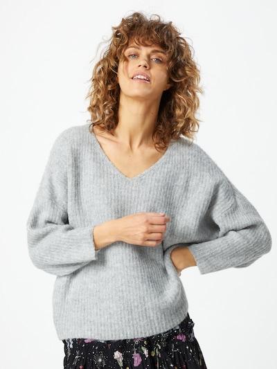 VERO MODA Jersey en gris moteado, Vista del modelo