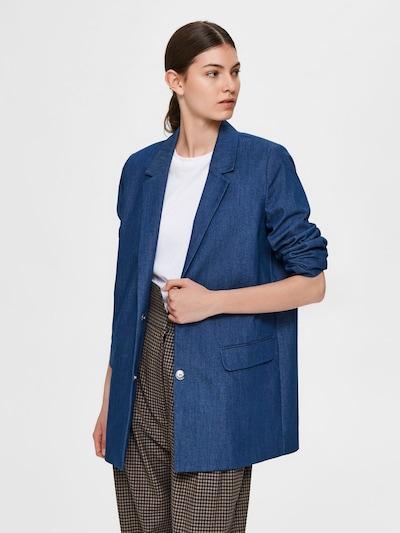 SELECTED FEMME Blazer in blaumeliert, Modelansicht