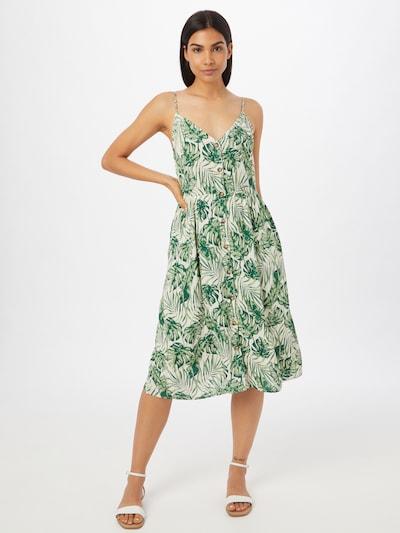 VILA Robe-chemise 'Sanne' en vert / blanc, Vue avec modèle