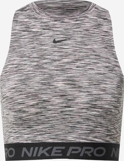 NIKE Sporttop in de kleur Stone grey / Zwart / Wit gemêleerd, Productweergave