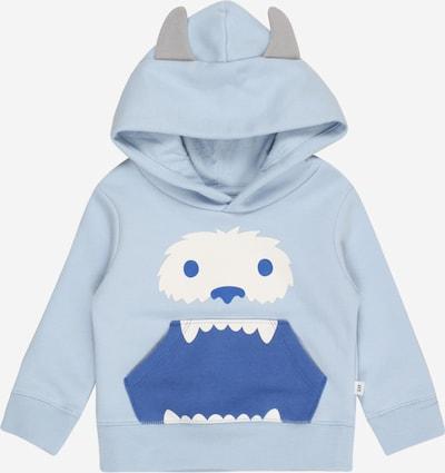 GAP Sweatshirt 'MONSTER' in blau / opal / grau / weiß, Produktansicht
