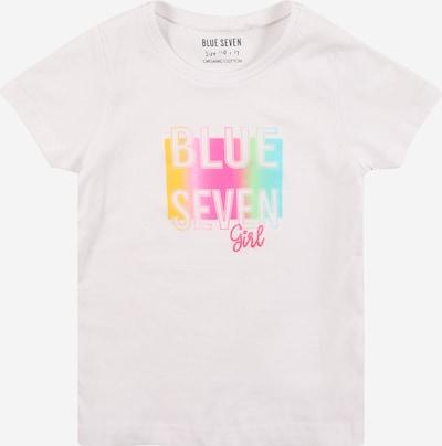 BLUE SEVEN T-Shirt in blau / gelb / grün / pink / weiß, Produktansicht