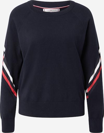 TOMMY HILFIGER Sveter - námornícka modrá / červená / biela: Pohľad spredu