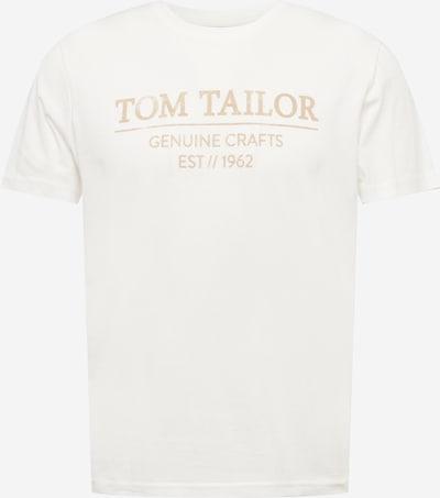 TOM TAILOR T-Shirt in puder / weiß, Produktansicht