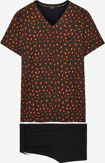 HOM Short Sleepwear ' Esterel ' in braunmeliert / blutrot / schwarz, Produktansicht