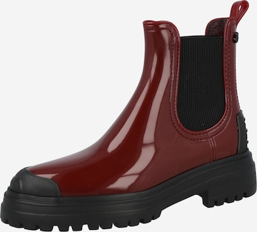 LEMON JELLY Chelsea Boots in Red
