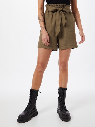 ONLY Pleat-front trousers 'SMILLA' in Khaki, View model
