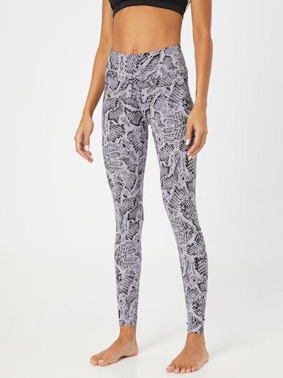 Hey Honey Workout Pants in Purple / Black, View model