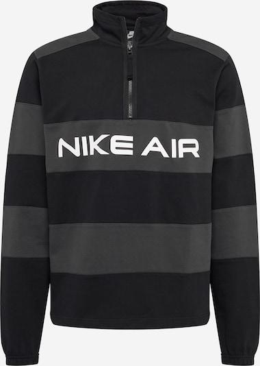 Pullover Nike Sportswear di colore grigio scuro / nero / bianco, Visualizzazione prodotti