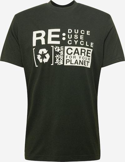 JACK WOLFSKIN T-Shirt 'NATURE RELIEF' in dunkelgrün / weiß, Produktansicht