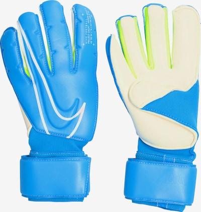 NIKE Handschuh in blau / kiwi / naturweiß, Produktansicht