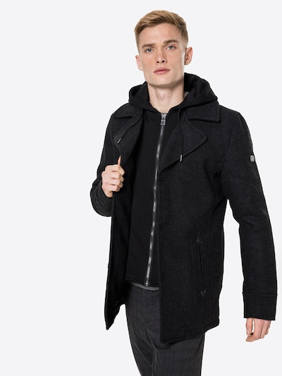INDICODE JEANS Prehoden plašč 'Adair' | črna barva, Prikaz modela