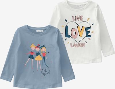 NAME IT Shirt 'VIX' in blau / rauchblau / gelb / pink / rot / weiß, Produktansicht