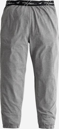 HOLLISTER Kalhoty - šedý melír / černá / bílá, Produkt