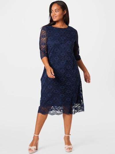 Ulla Popken Evening Dress in marine blue, View model