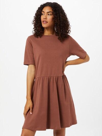 basic apparel Kleid 'Signe' (GOTS) in schoko, Modelansicht