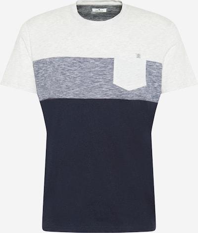 TOM TAILOR T-Shirt in navy / blaumeliert / weiß, Produktansicht
