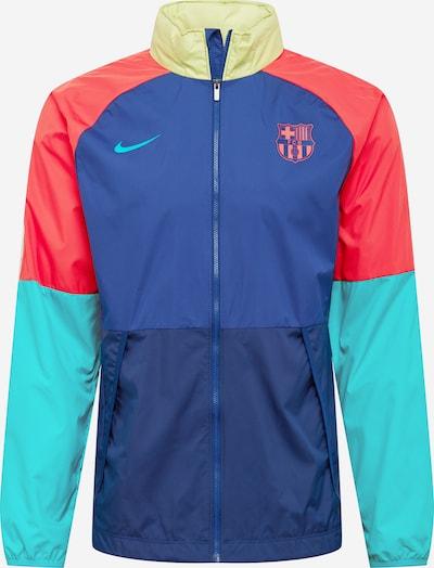 NIKE Športová bunda 'FC Barcelona' - námornícka modrá / tyrkysová / žltá / koralová, Produkt