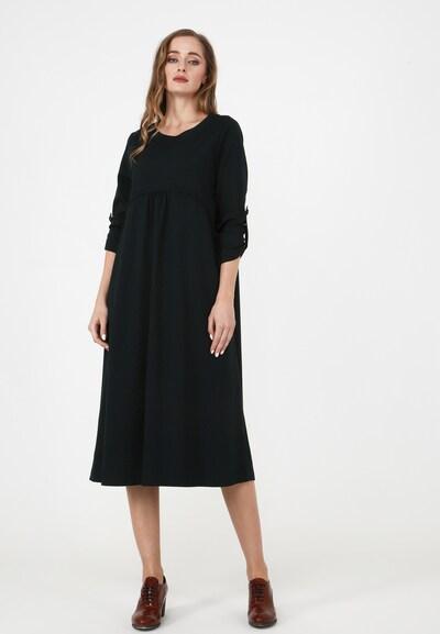Madam-T Kleid 'SELNA' in dunkelgrün, Modelansicht